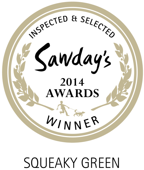 winner of the Sawdays squeaky green award 2014