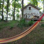 The hammock at Woodman's cabin